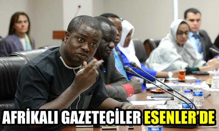 Afrikalı gazeteciler Esenler'de