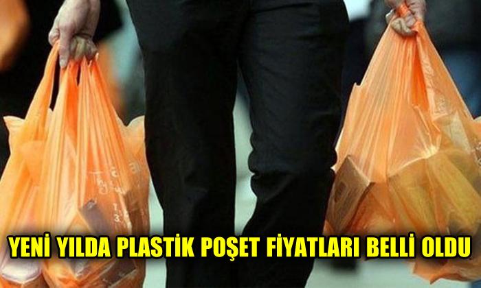 Yeni yılda plastik poşet fiyatları belli oldu