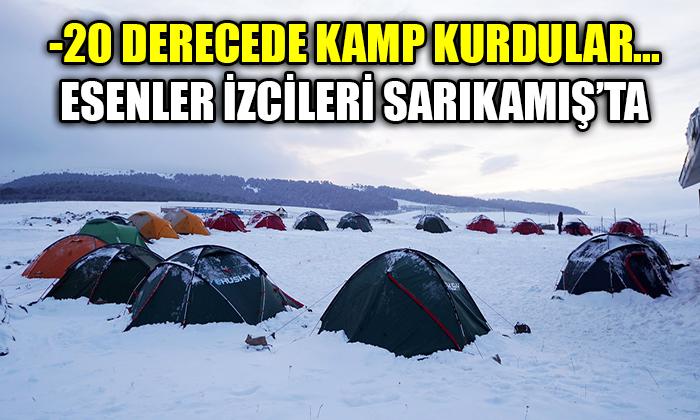 -20 derecede kamp kurdular… Esenler İzciler Sarıkamış'ta