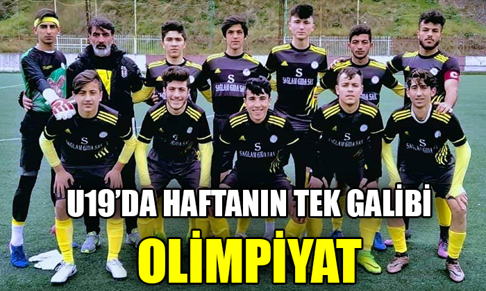 U19'DA HAFTANIN TEK GALİBİ OLİMPİYAT