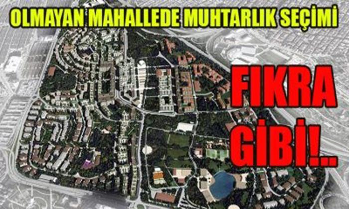 OLMAYAN MAHALLEDE MUHTARLIK SEÇİMİ  FIKRA GİBİ!..