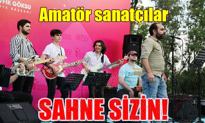 Amatör sanatçılar SAHNE SİZİN!