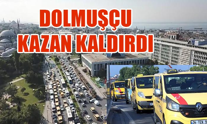 DOLMUŞÇU KAZAN KALDIRDI